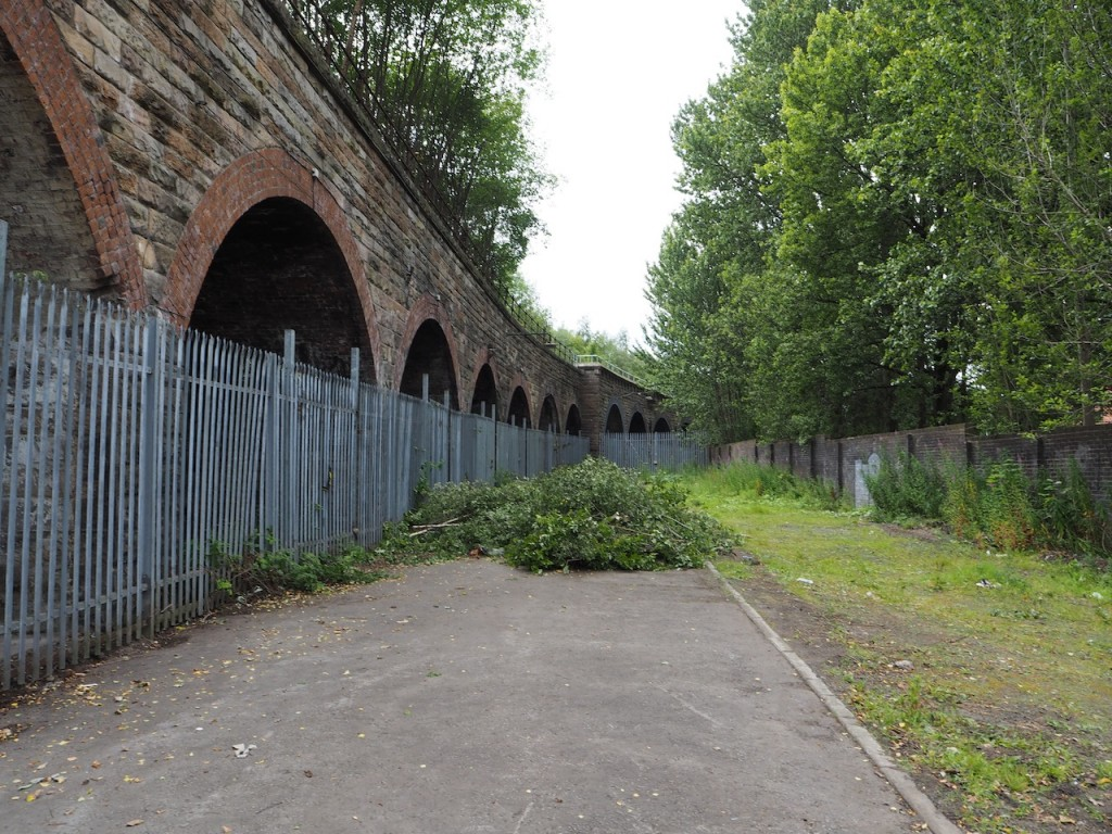 Photograph of the area in front of the Laurieston Arches