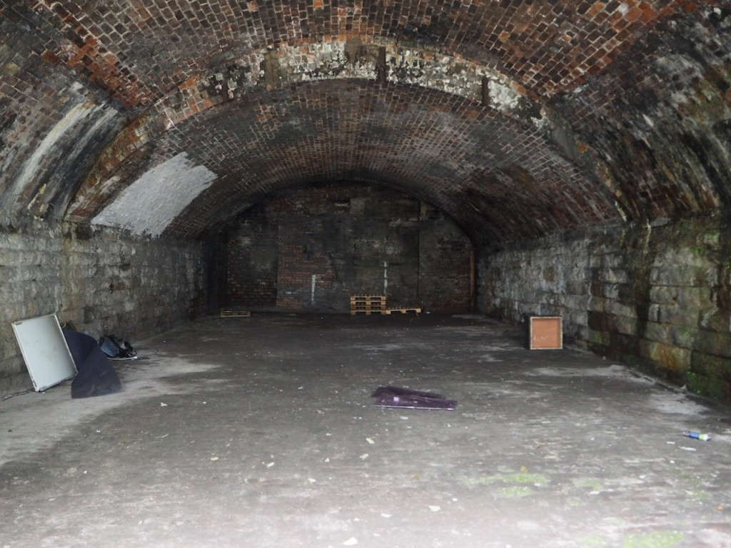 Photograph of the interior of Archway 4 at Laurieston Arches